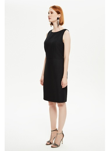 NaraMaxx Kolsuz Beli Kesiklli Elbise Siyah